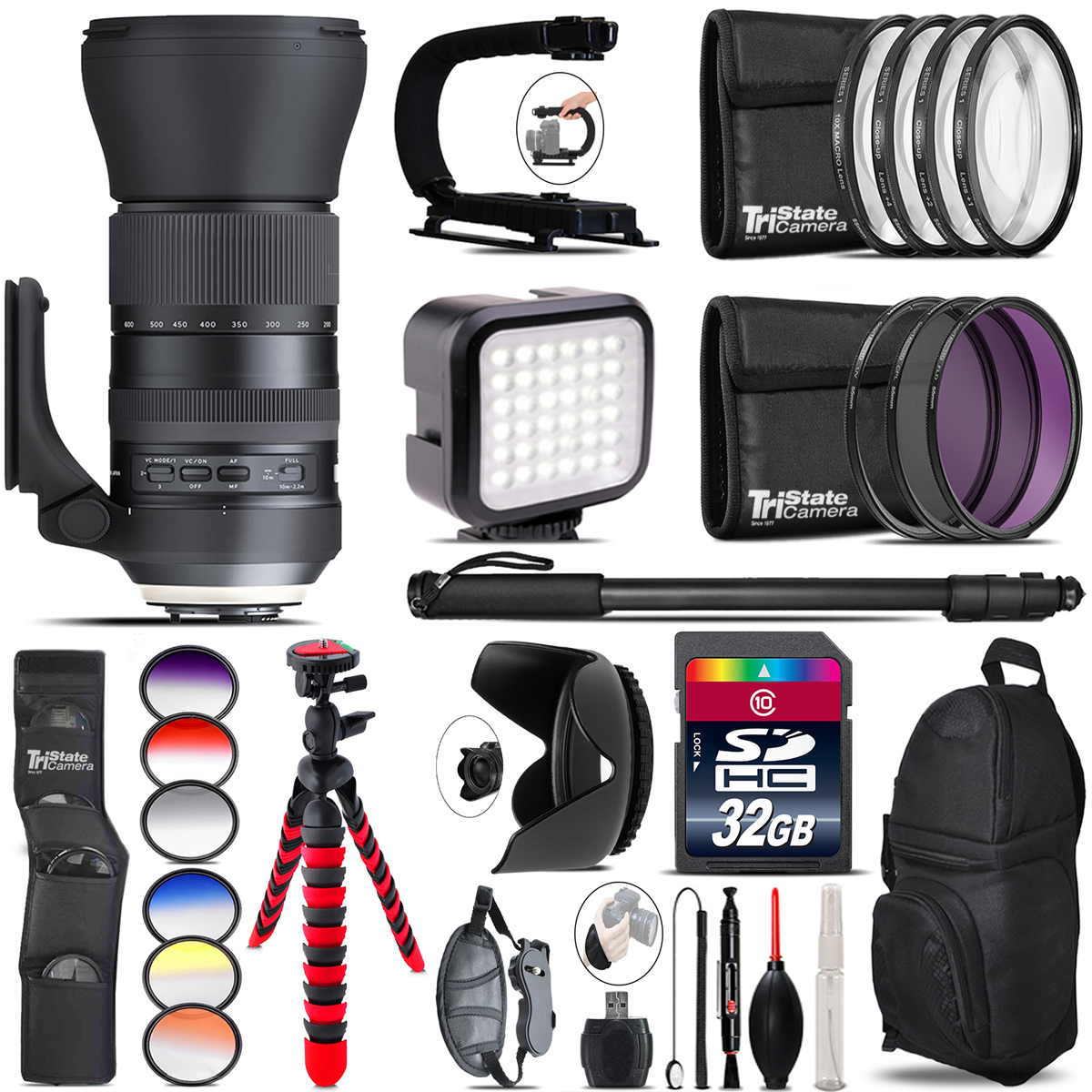 Tamron 150-600mm G2 for Nikon - Video Kit + Color Filter - 32GB Accessory Kit *FREE SHIPPING*
