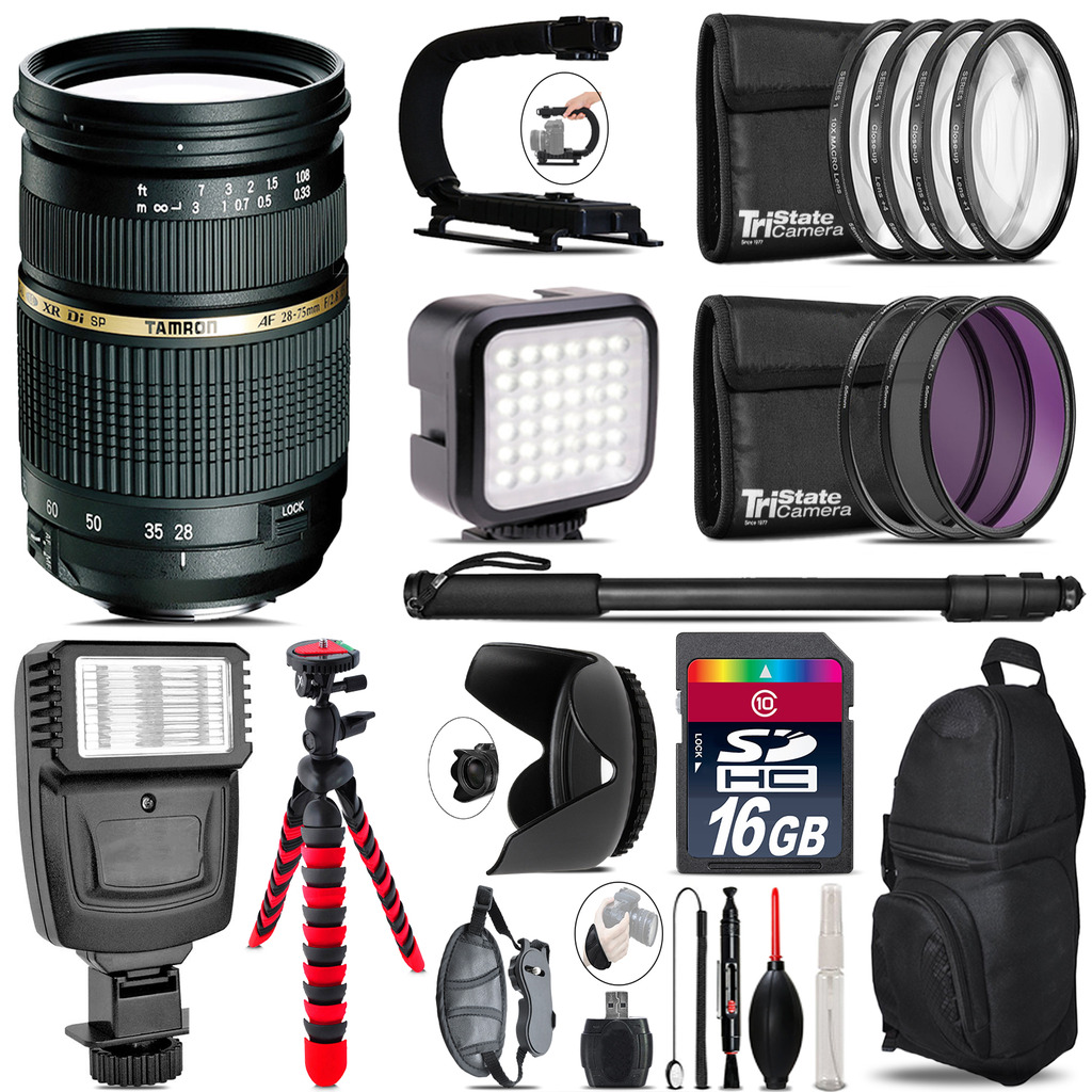 Tamron 28-75mm Lens for Canon - Video Kit +  Flash - 16GB Accessory Bundle *FREE SHIPPING*