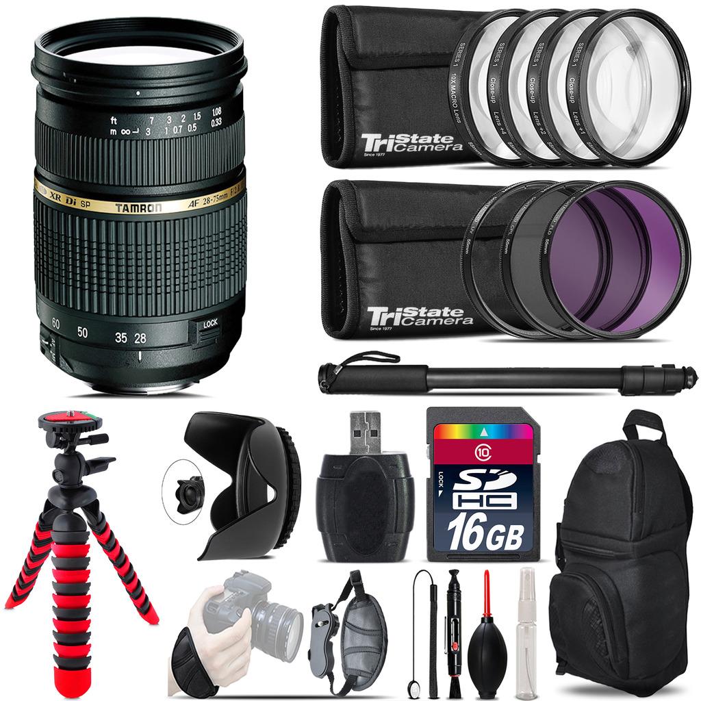 Tamron 28-75mm Lens for Nikon + Macro Filter Kit & More - 16GB Accessory Kit *FREE SHIPPING*