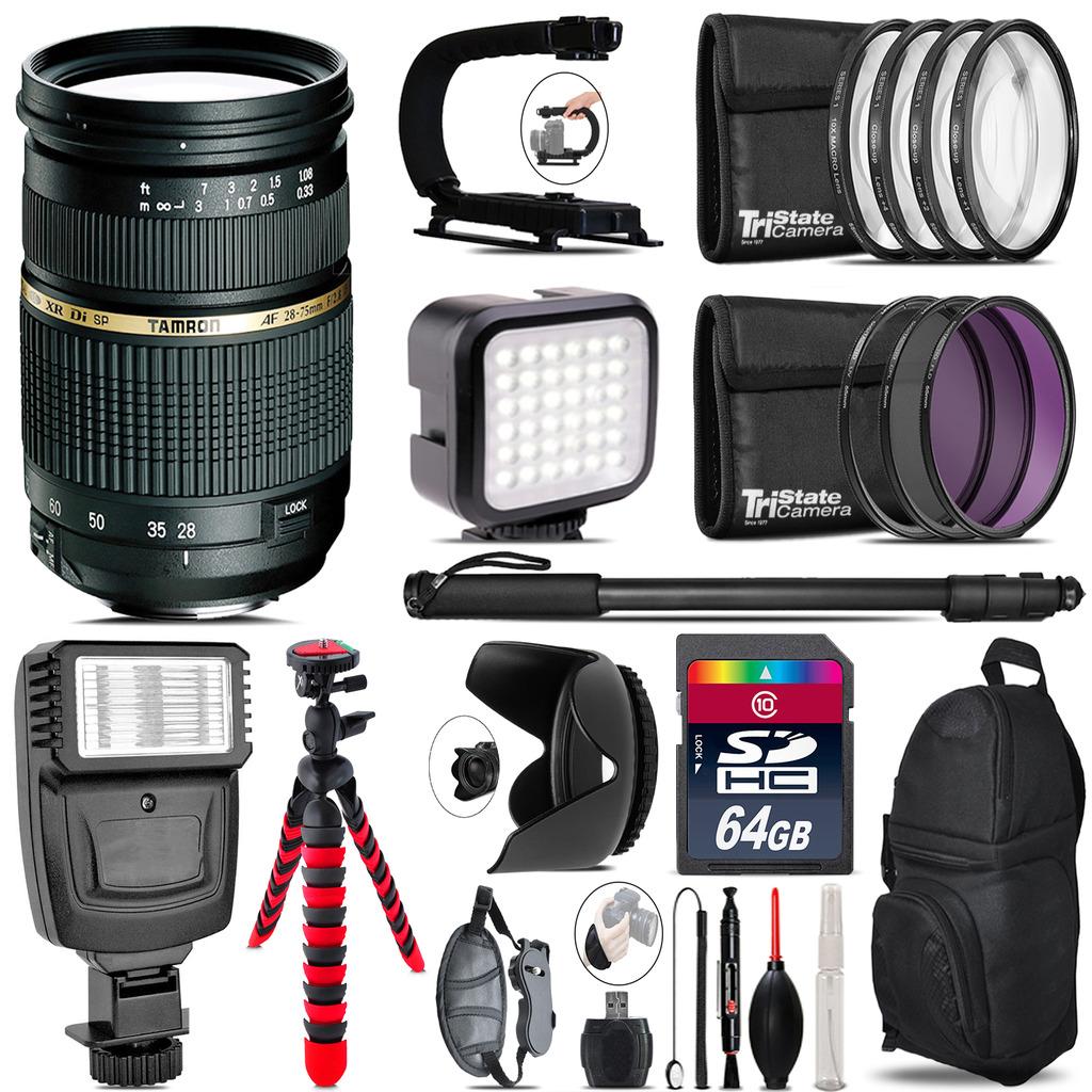 Tamron 28-75mm Lens for Nikon - Video Kit +  Flash - 64GB Accessory Bundle *FREE SHIPPING*