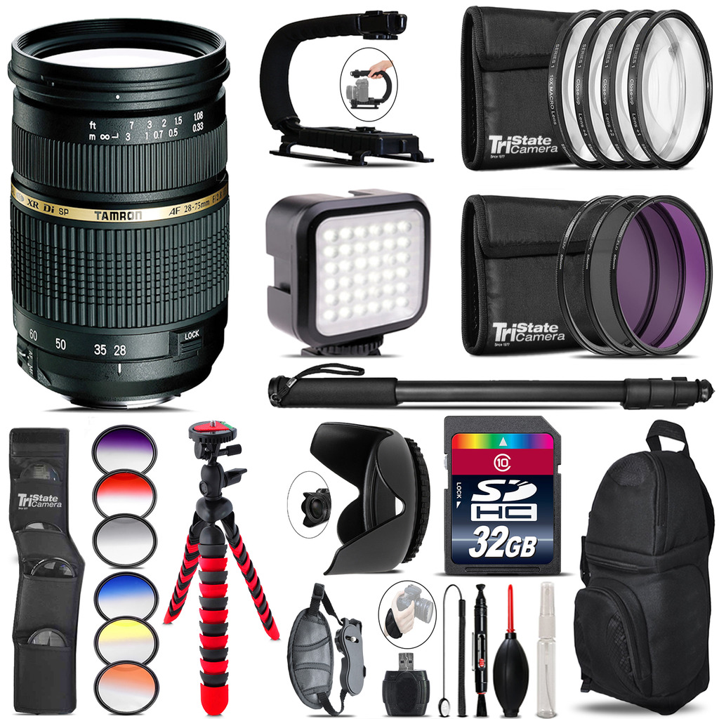 Tamron 28-75mm Lens for Nikon - Video Kit + Color Filter - 32GB Accessory Kit *FREE SHIPPING*