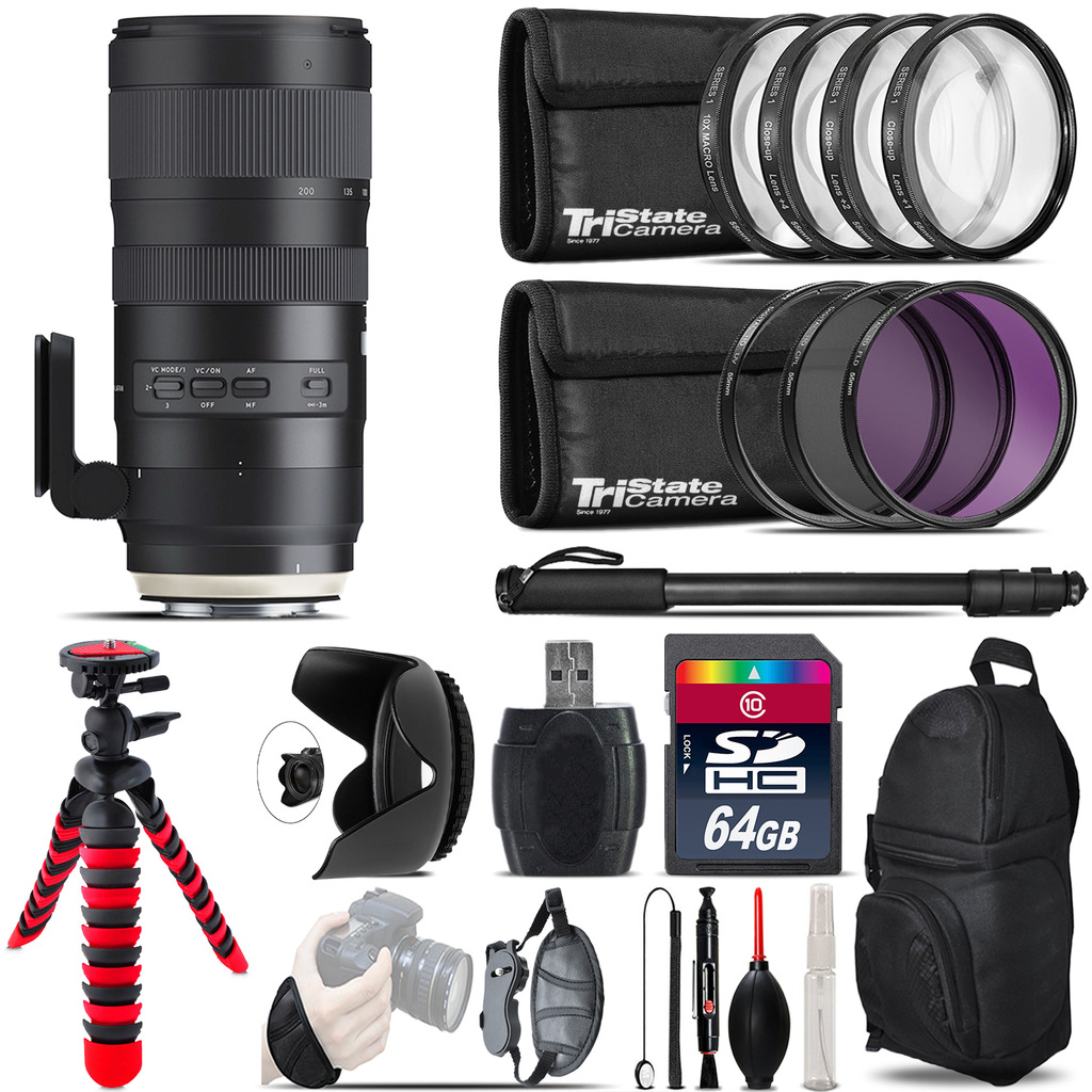 Tamron 70-200mm G2  for Canon + Macro Filter Kit & More - 64GB Accessory Kit *FREE SHIPPING*