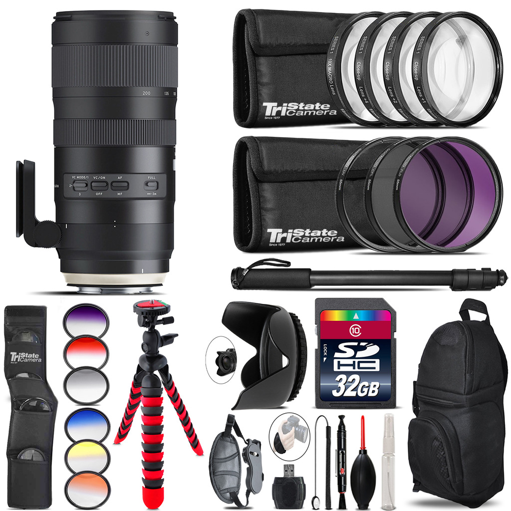 Tamron 70-200mm G2  for Canon + Graduated Color Filter - 32GB Accessory Kit *FREE SHIPPING*