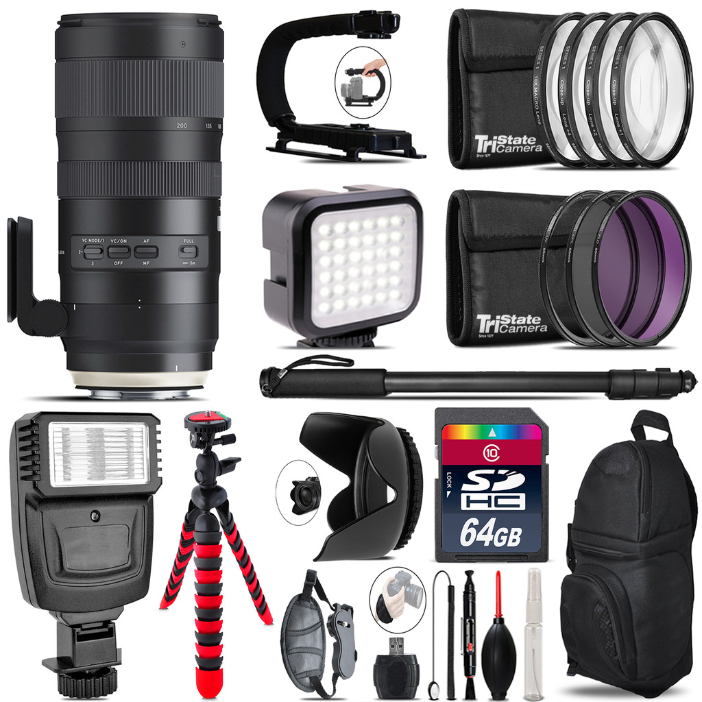 Tamron 70-200mm G2  for Canon - Video Kit +  Flash - 64GB Accessory Bundle *FREE SHIPPING*