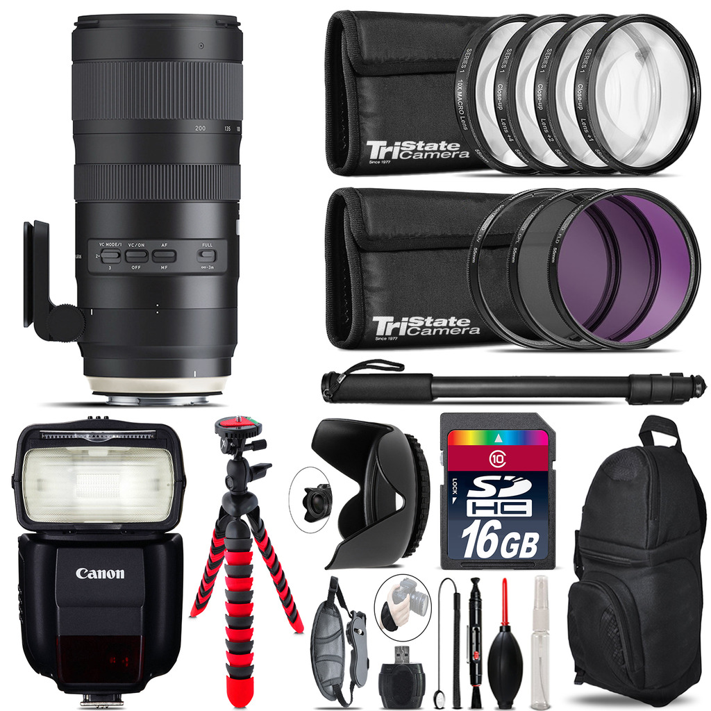 Tamron 70-200mm G2  for Canon + Speedlite 430EX III-RT  & More - 16GB Kit *FREE SHIPPING*