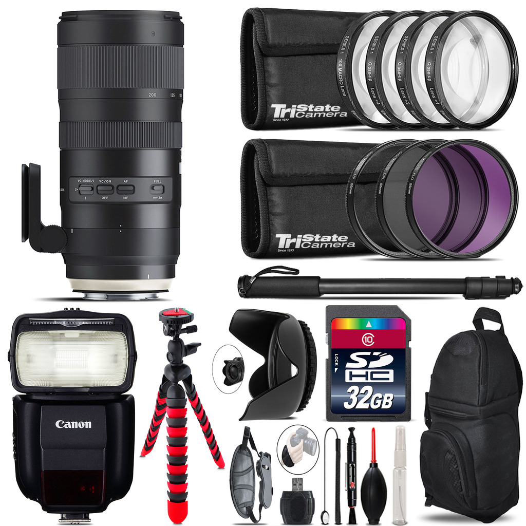 Tamron 70-200mm G2  for Canon + Speedlite 430EX III-RT  & More - 32GB Kit *FREE SHIPPING*