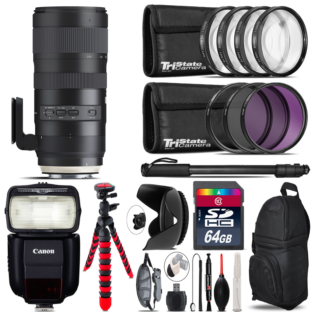 Tamron 70-200mm G2  for Canon + Speedlite 430EX III-RT  & More - 64GB Kit *FREE SHIPPING*