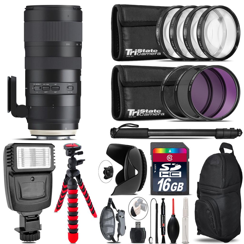 Tamron 70-200mm G2  for Nikon + Flash +  Tripod & More - 16GB Accessory Kit *FREE SHIPPING*