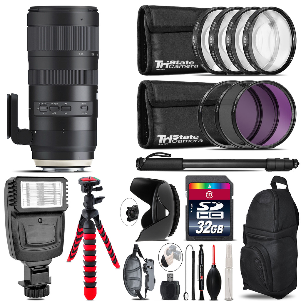 Tamron 70-200mm G2  for Nikon + Flash +  Tripod & More - 32GB Accessory Kit *FREE SHIPPING*