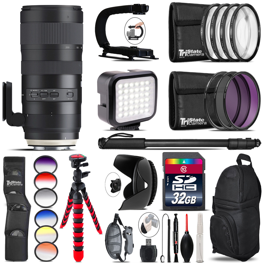 Tamron 70-200mm G2  for Nikon - Video Kit + Color Filter - 32GB Accessory Kit *FREE SHIPPING*