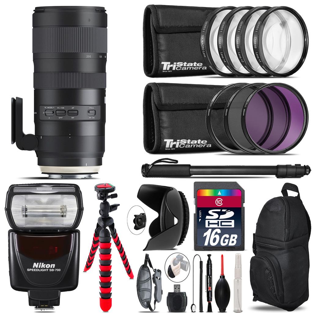 Tamron 70-200mm G2  for Nikon + SB-700 AF Speedlight  & More - 16GB Kit *FREE SHIPPING*