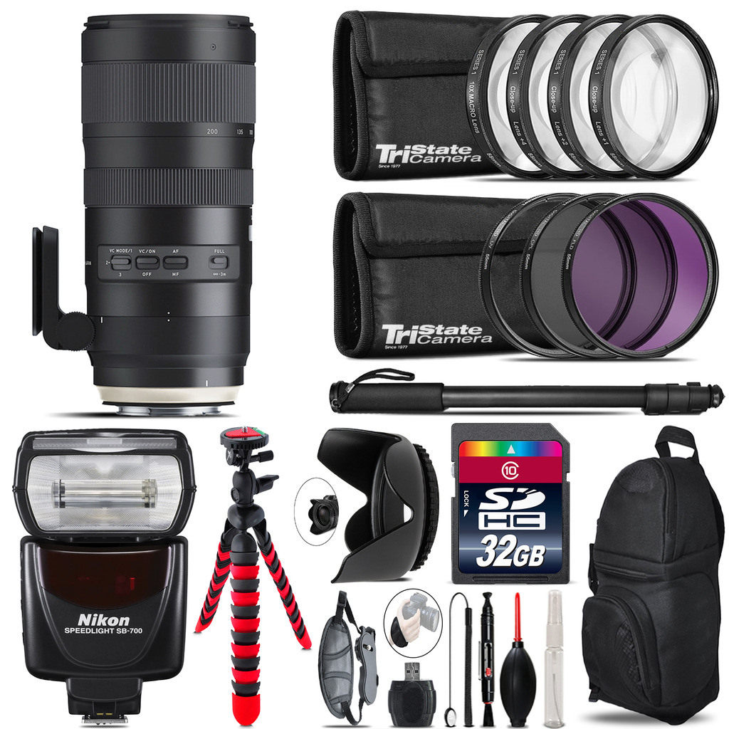 Tamron 70-200mm G2  for Nikon + SB-700 AF Speedlight  & More - 32GB Kit *FREE SHIPPING*