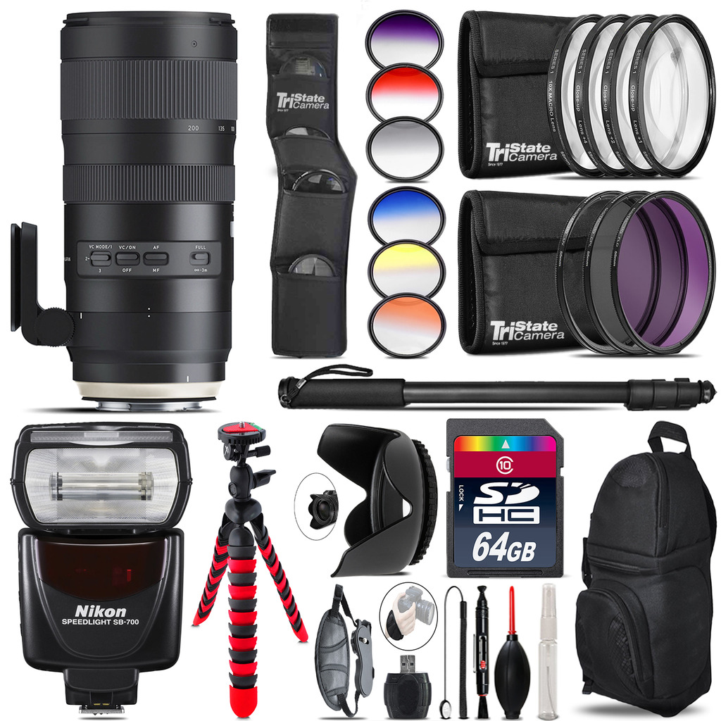 Tamron 70-200mm G2  for Nikon + SB-700 AF Speedlight  - 64GB Accessory Kit *FREE SHIPPING*