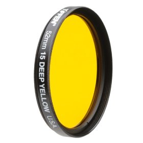 58mm Deep Yellow 15 Filter For Black & White Film *FREE SHIPPING*
