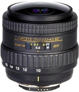 AF AT-X 10-17/3.5-4.5 Pro DX Fisheye Zoom Lens For Nikon DX Digital SLRs (No Hood) *FREE SHIPPING*