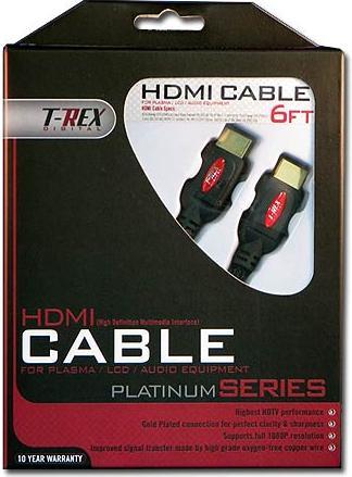 T-REX Premium 1080P 2 Meter HDMI Cable