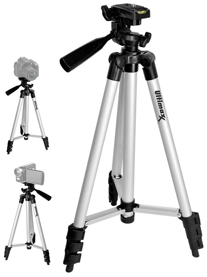 50 Inch Deluxe Photo Video Tripod w/ 3-Way Pan Head with Tilt Motion *FREE SHIPPING*