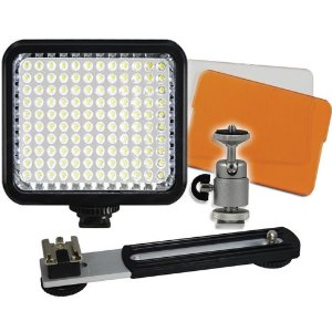 LED-120 Digital Photo & Video Camcorder Light with Bracket