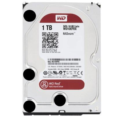 Red 1 TB NAS Hard Drive: 3.5 Inch, SATA III, 64 MB Cache