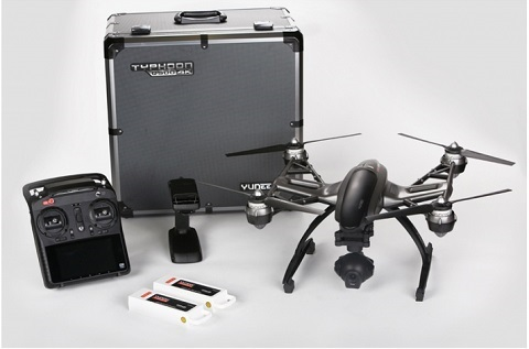 Typhoon Q500 4K Quadcopter Pro Kit Aluminum Case with CGO3, ST10+, 2 Batteries, CGO SteadyGrip and Charger *FREE SHIPPING*