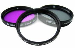 ZE-FLK58 58mm Professional Multi-Coated Glass 3-Piece Filter Kit *FREE SHIPPING*
