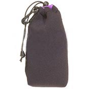 Large Drawstring Pouch - Black With Purple Top Hem *FREE SHIPPING*